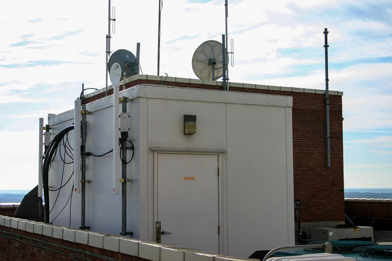 Rooftop Communications Building